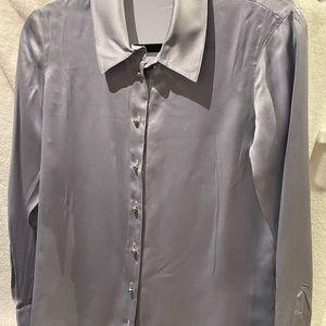 Ravella Milano silk blouse in Grey